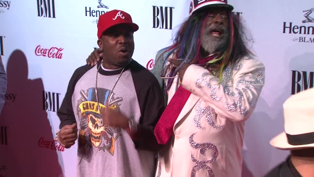 big boi and george clinton at the 9th annual bmi urban music awards at new york ny. - big boi stock videos & royalty-free footage