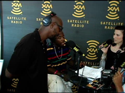 big boi and sleepy brown with michelle cartier and sexy chocolate at the xm satellite radio rocks the style villa day two at the sagamore hotel in... - big boi stock videos & royalty-free footage