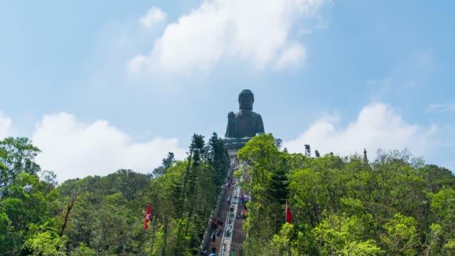 stockvideo's en b-roll-footage met 4k tl: big buddha in hong kong. - hong kong