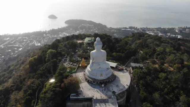 big buddha phuket aerial view - phuket stock videos & royalty-free footage