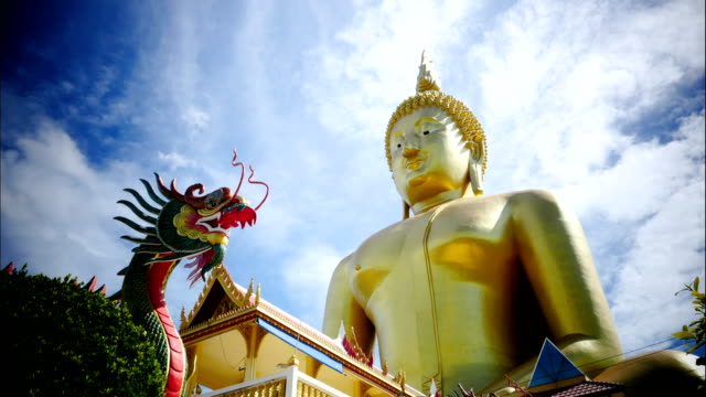 big buddha statue time-laps - surat thani province stock videos & royalty-free footage