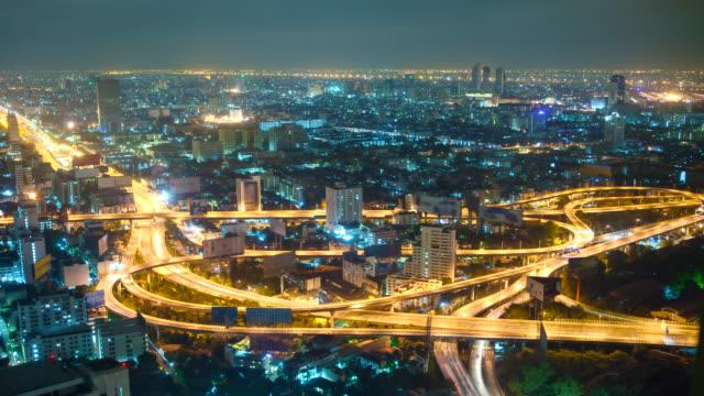 big city highway interchange - clover leaf shape stock videos and b-roll footage