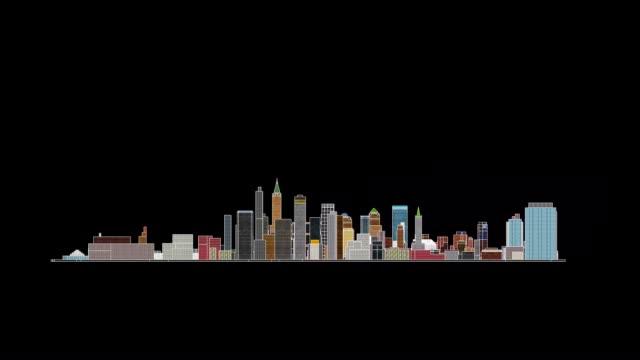 vídeos de stock, filmes e b-roll de grande cidade em 360º de rotação de bicicleta em fundo preto - museu metropolitano de arte