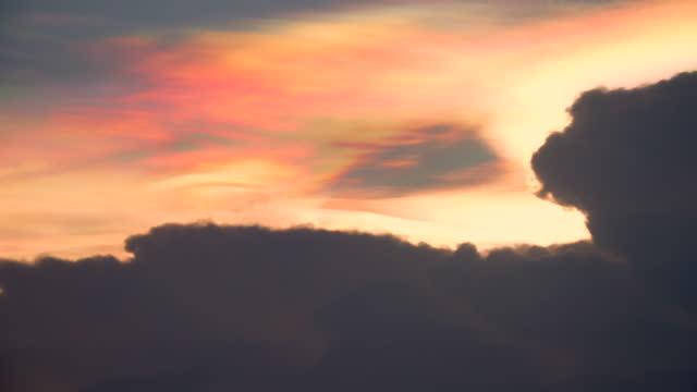 big clouds effect natural light phenomenon. - light natural phenomenon stock videos & royalty-free footage