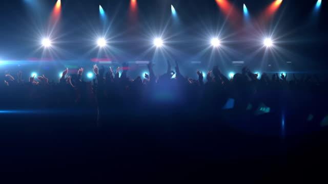 Große Gruppe von Menschen beim Konzert