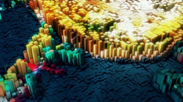 vídeos de stock e filmes b-roll de big data conceptual simulation - imagem tonalizada