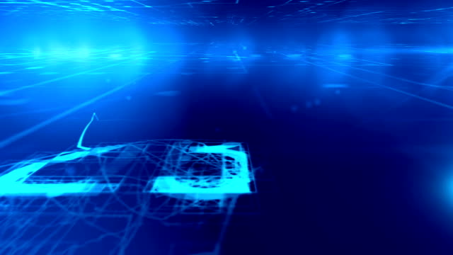 stockvideo's en b-roll-footage met big data conceptuele simulatie - monochroom