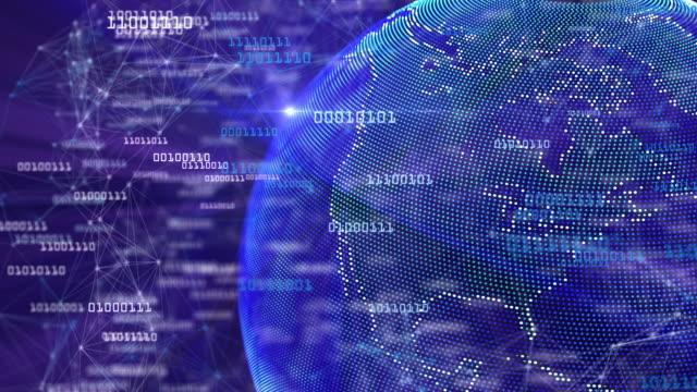 ビッグデータ地球グローブループ(バイト付き) - big data点の映像素材/bロール