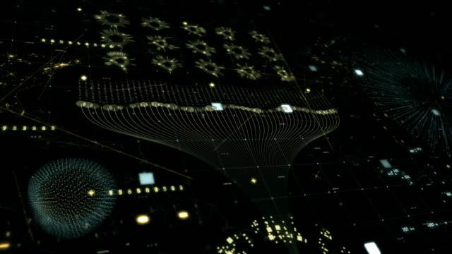 big data techno grid - data mining stock videos & royalty-free footage