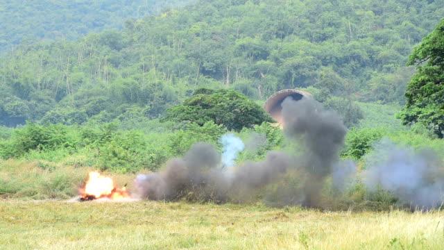 big explosion training - hand grenade stock videos & royalty-free footage