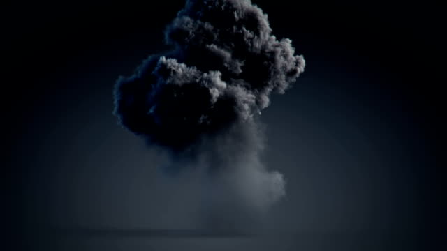 big explosion with alpha mask - smoke physical structure stock videos and b-roll footage