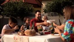 Big family reunion dinner