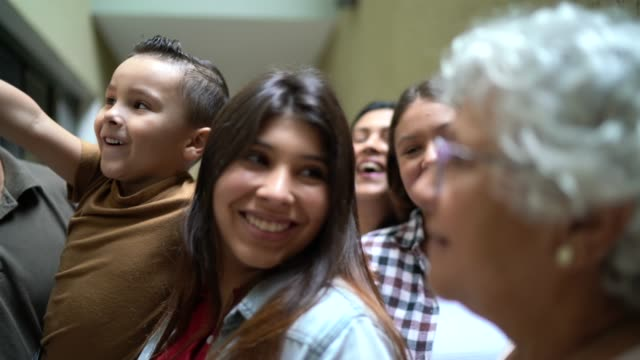 a big family reunion - social gathering stock videos & royalty-free footage