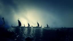 Big Fleet of Viking Ship