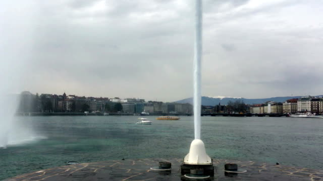 big fountain spout of lake geneva - 1958 stock videos & royalty-free footage