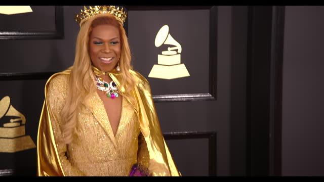 Big Freedia at the 59th Annual Grammy Awards Arrivals at Staples Center on February 12 2017 in Los Angeles California 4K