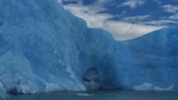 Big ice floe in front Upsala glacier