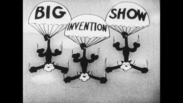 vidéos et rushes de big invention show - parachute