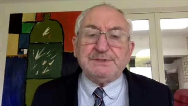 big issue say they've lost more than a million pounds in funding because of pandemic; england: int john bird interview via internet sot - itv london lunchtime news stock videos & royalty-free footage