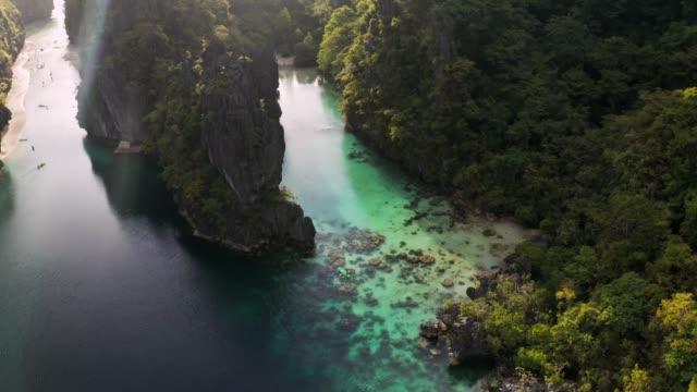 big lagoon in el nido - lagoon stock videos & royalty-free footage