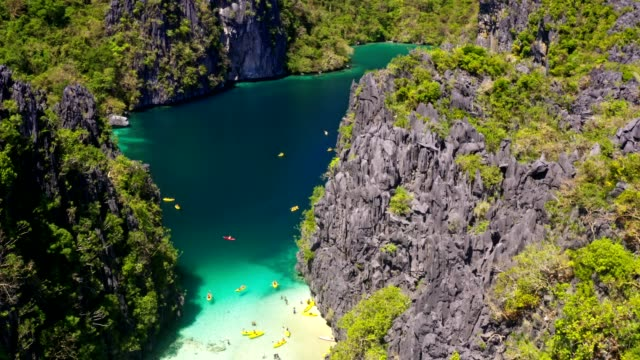 big lagoon in palawan, philippines - lagoon stock videos & royalty-free footage