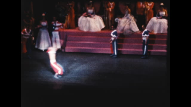 big medieval style dance performance at radio city music hall - radio city music hall stock videos & royalty-free footage