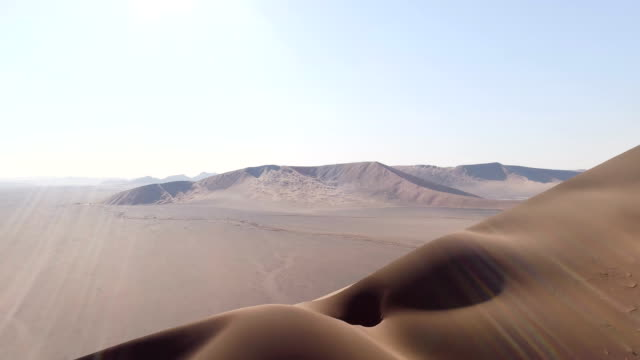 big namibia dune. aerial view - desert stock videos & royalty-free footage