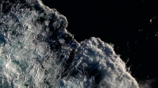 big ocean swells in a stormy sea - cold temperature stock videos & royalty-free footage
