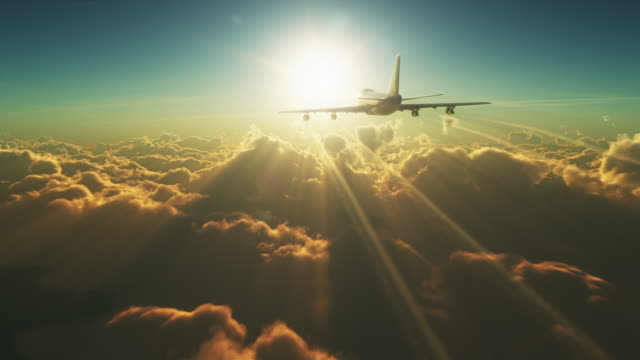 big plane above the clouds - air vehicle stock videos & royalty-free footage
