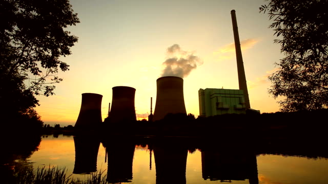big power plant in the dusk - synthpop stock videos & royalty-free footage