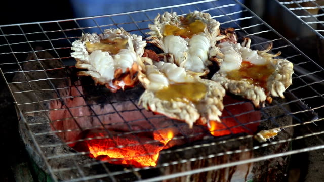Big prawn fire grill