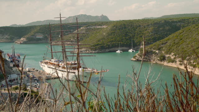 Big sailboat at Calvi Port, Corsica, Short Dolly left