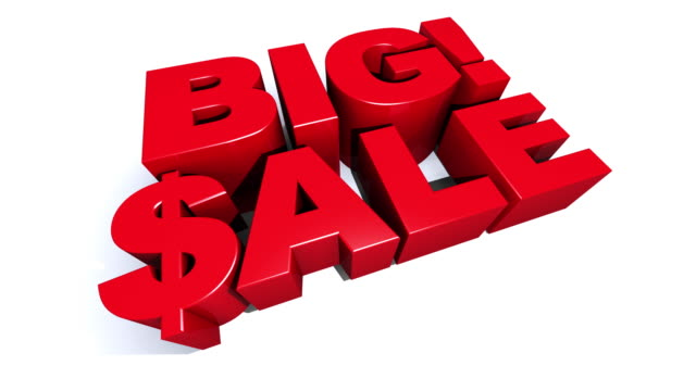 Big! Sale Red 3D Graphic Text