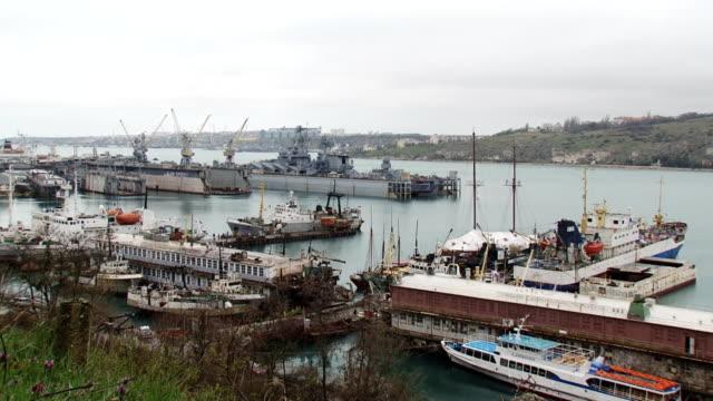 big sea port - sevastopol crimea stock videos and b-roll footage