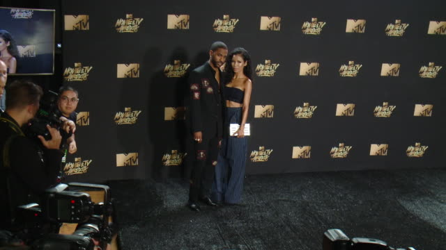 Big Sean and Jhene Aiko at the 2017 MTV Movie TV Awards Red Carpet Arrivals on May 07 2017 in Los Angeles California