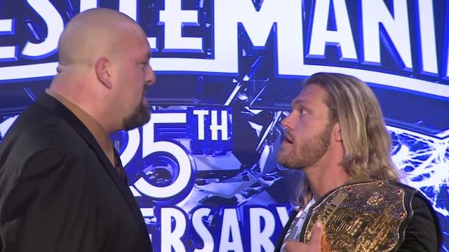 Big Show and Edge at the WrestleMania 25th Anniversary Press Conference at New York NY