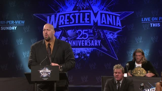 Big Show on what he's taken from Edge and deserving to be called heavyweight champion at the WrestleMania 25th Anniversary Press Conference at New...