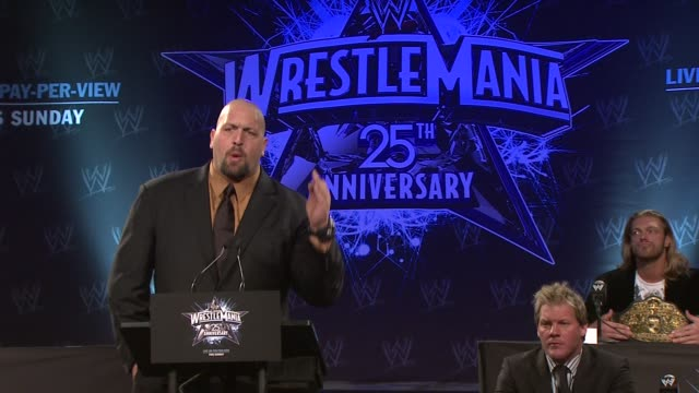 Big Show on what it means to be the world's heavyweight champion at the WrestleMania 25th Anniversary Press Conference at New York NY