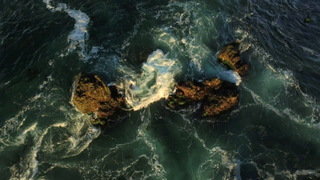 big sur aerial over rocky break - amber stock videos & royalty-free footage
