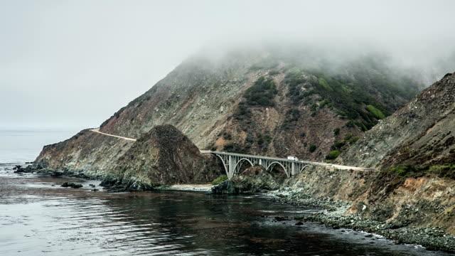 big sur california - rocky coastline stock videos & royalty-free footage