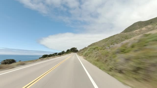 big sur iv synced series front view driving process plate - california stock videos & royalty-free footage