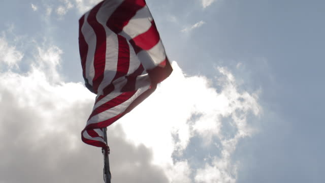 big us flag - low angle view stock videos & royalty-free footage