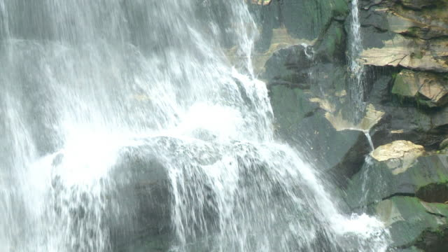big volume of water of a waterfall - stability stock videos & royalty-free footage