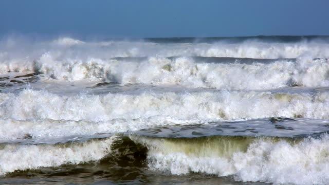 big wave on the beach - tsunami stock videos & royalty-free footage