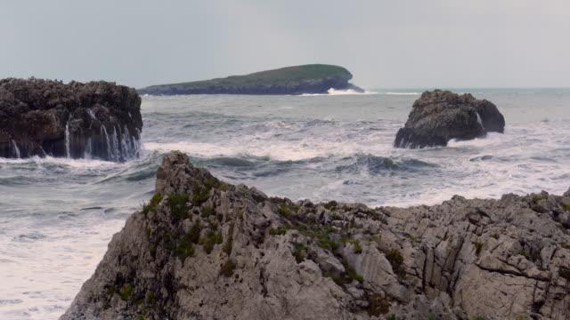 Big Waves, Islares, Cantabrian Sea, Cantabria, Spain, Europe