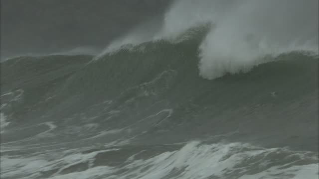 ms big waves rolling in - scotland stock videos & royalty-free footage