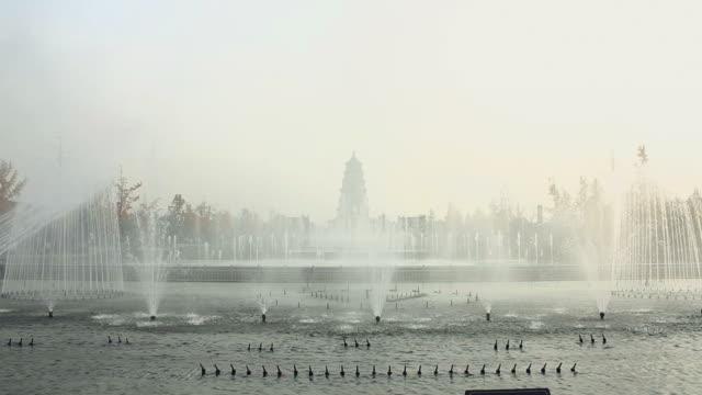 MS Big Wild Goose Pagoda Fountains Square/xian,shaanxi,China
