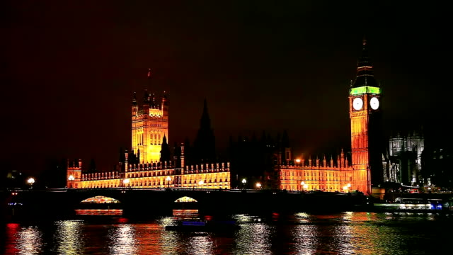 bigben at night - big ben stock videos & royalty-free footage