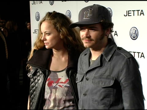 bijou phillips and danny masterson at the 2005 volkswagen jetta premiere party arrivals and inside at the lot in hollywood, california on january 5,... - bijou phillips stock videos & royalty-free footage