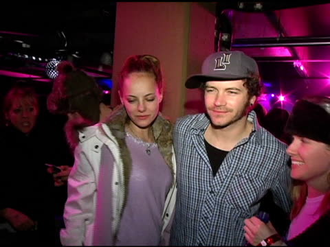 bijou phillips and danny masterson at the motorola's 2nd annual late night lounge at motorola lodge in park city, utah on january 23, 2005. - bijou phillips stock videos & royalty-free footage